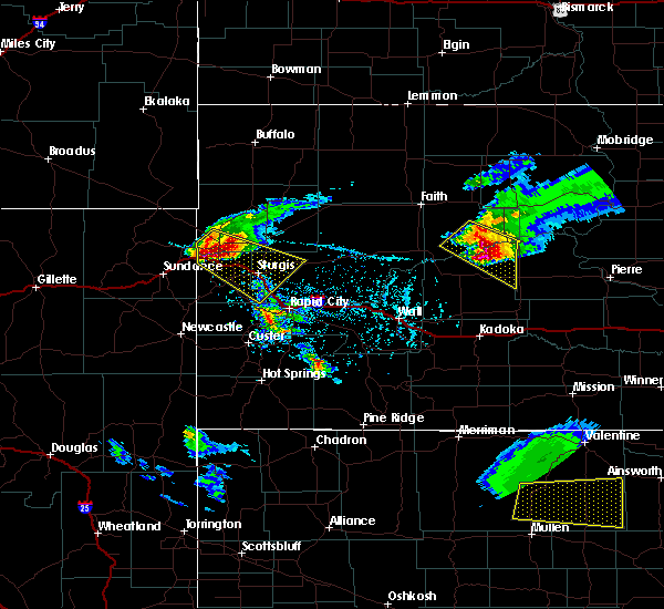 Radar Image for Severe Thunderstorms near Fruitdale, SD at 6/4/2020 5:33 PM MDT