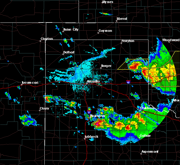 Radar Image for Severe Thunderstorms near Canadian, TX at 6/4/2020 6:34 PM CDT
