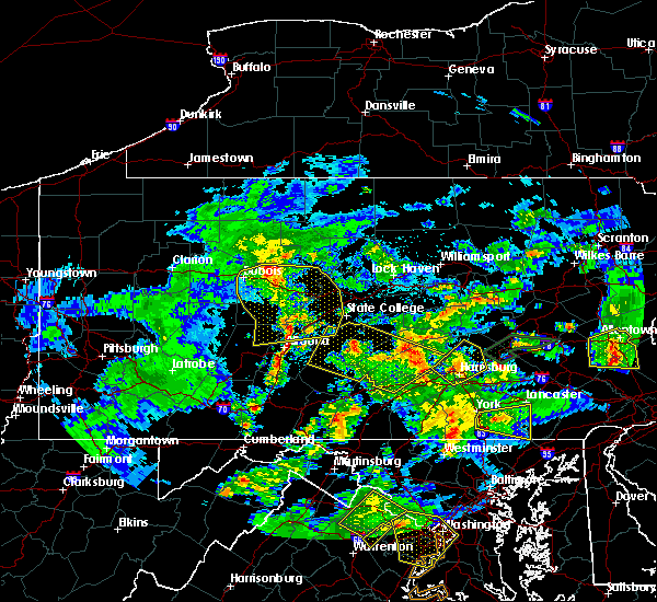 Radar Image for Severe Thunderstorms near East Freedom, PA at 6/4/2020 7:36 PM EDT