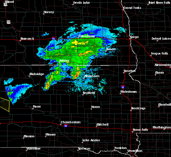 Radar Image for Severe Thunderstorms near Westport, SD at 6/4/2020 6:38 PM CDT