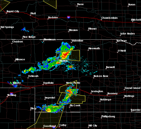 Radar Image for Severe Thunderstorms near Brownlee, NE at 6/4/2020 6:45 PM CDT