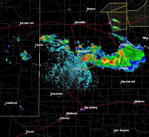 Radar Image for Severe Thunderstorms near Ralls, TX at 6/4/2020 6:45 PM CDT
