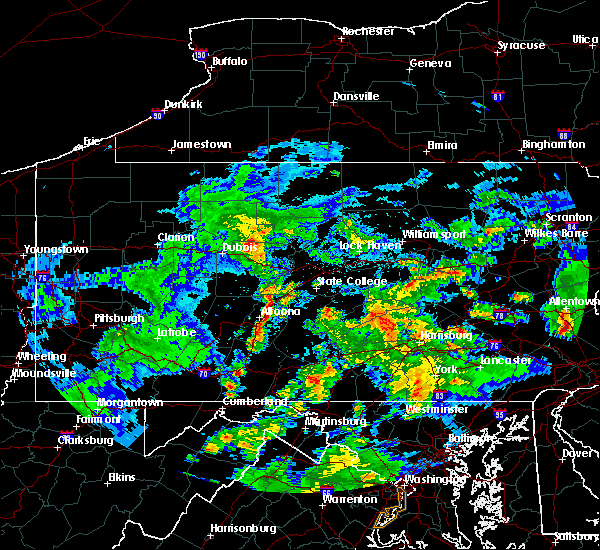Radar Image for Severe Thunderstorms near South Philipsburg, PA at 6/4/2020 7:50 PM EDT