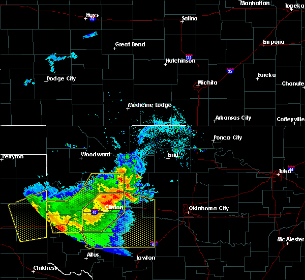 Radar Image for Severe Thunderstorms near Kingfisher, OK at 6/4/2020 6:57 PM CDT