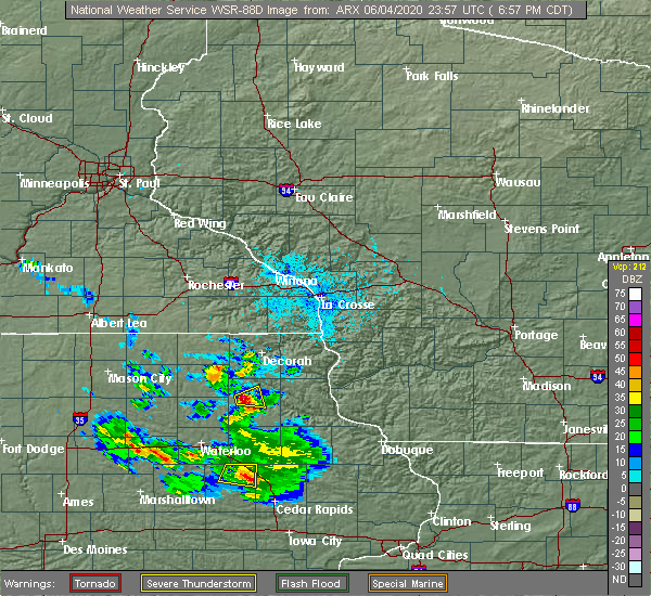 Radar Image for Severe Thunderstorms near Hawkeye, IA at 6/4/2020 6:59 PM CDT