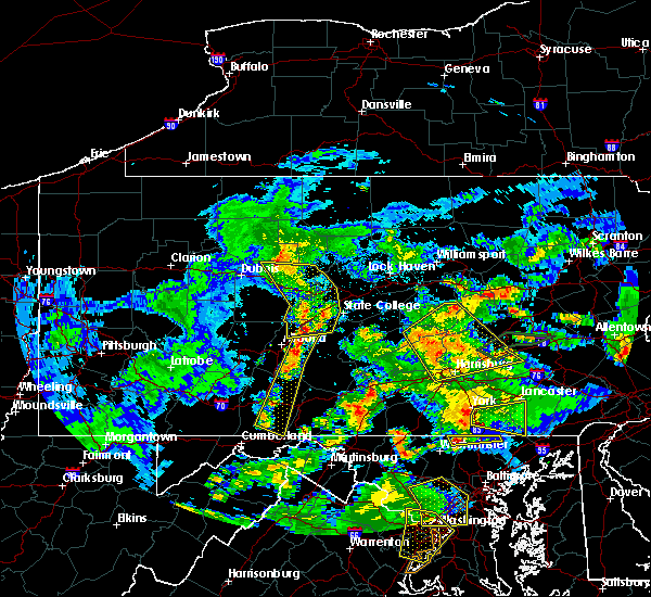 Radar Image for Severe Thunderstorms near Saxton, PA at 6/4/2020 8:01 PM EDT