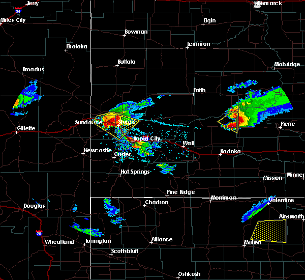 Radar Image for Severe Thunderstorms near Hulett, WY at 6/4/2020 6:02 PM MDT