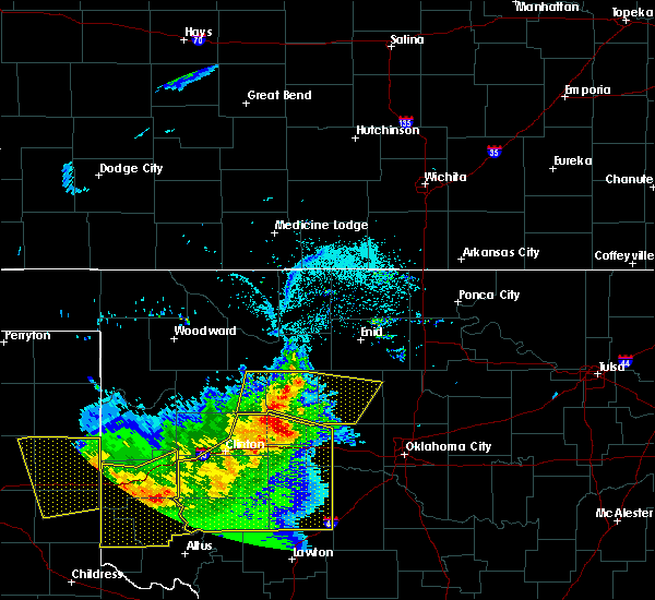 Radar Image for Severe Thunderstorms near Kingfisher, OK at 6/4/2020 7:30 PM CDT