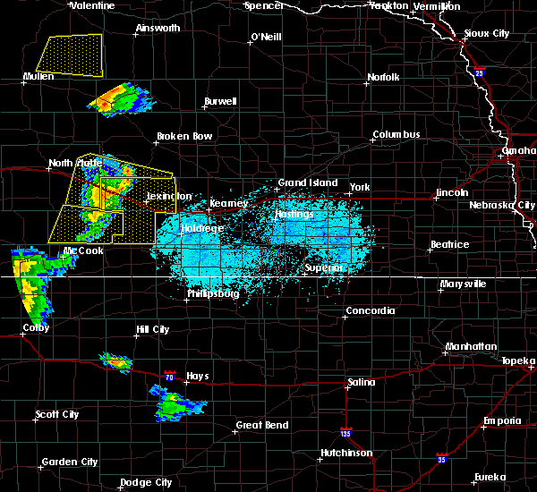 Radar Image for Severe Thunderstorms near Willow Island, NE at 6/4/2020 7:35 PM CDT