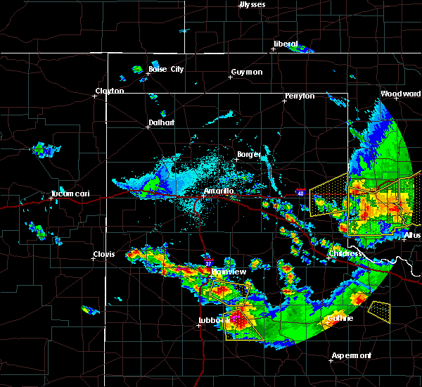 Radar Image for Severe Thunderstorms near Texola, OK at 6/4/2020 7:38 PM CDT