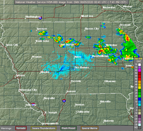 Radar Image for Severe Thunderstorms near Reinbeck, IA at 6/4/2020 7:45 PM CDT