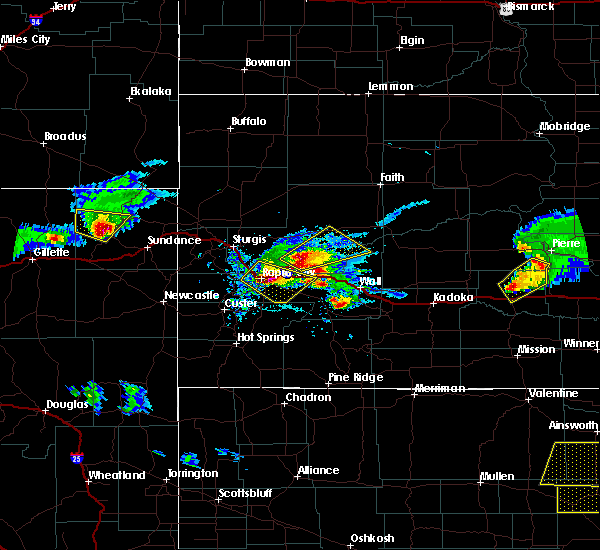 Radar Image for Severe Thunderstorms near Hulett, WY at 6/4/2020 6:49 PM MDT