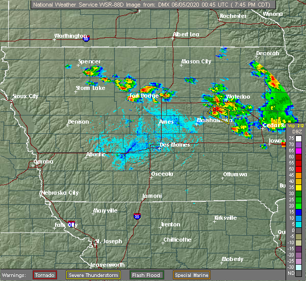 Radar Image for Severe Thunderstorms near Coalville, IA at 6/4/2020 7:51 PM CDT
