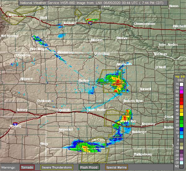 Radar Image for Severe Thunderstorms near Brewster, NE at 6/4/2020 7:51 PM CDT