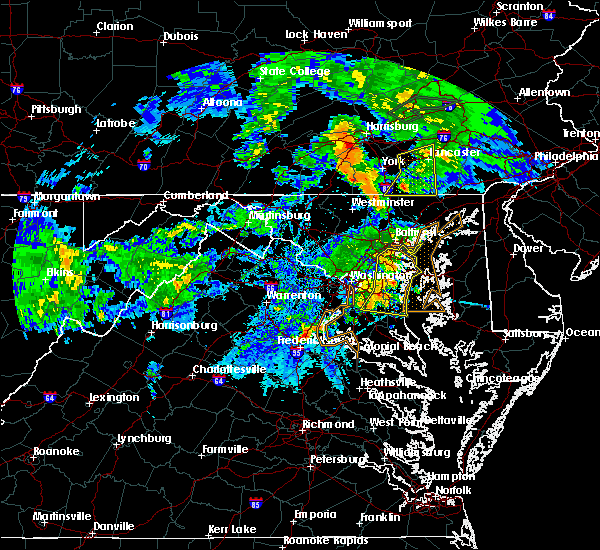 Radar Image for Severe Thunderstorms near Croom, MD at 6/4/2020 8:53 PM EDT