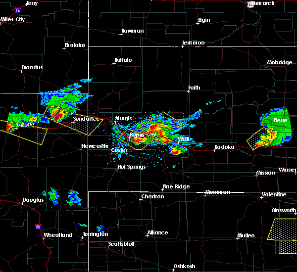 Radar Image for Severe Thunderstorms near Rapid City, SD at 6/4/2020 7:00 PM MDT