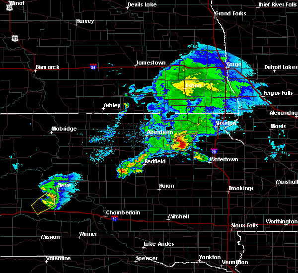 Radar Image for Severe Thunderstorms near Ortley, SD at 6/4/2020 7:59 PM CDT