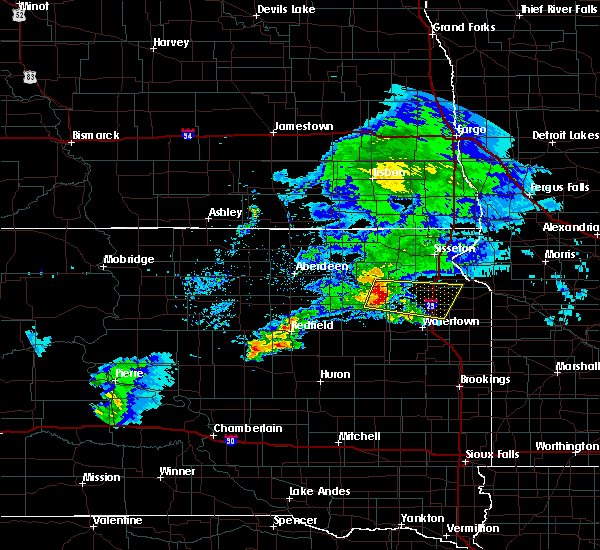 Radar Image for Severe Thunderstorms near Ortley, SD at 6/4/2020 8:03 PM CDT