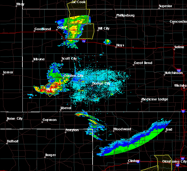Radar Image for Severe Thunderstorms near Ulysses, KS at 6/4/2020 8:08 PM CDT