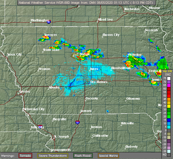 Radar Image for Severe Thunderstorms near Coalville, IA at 6/4/2020 8:14 PM CDT