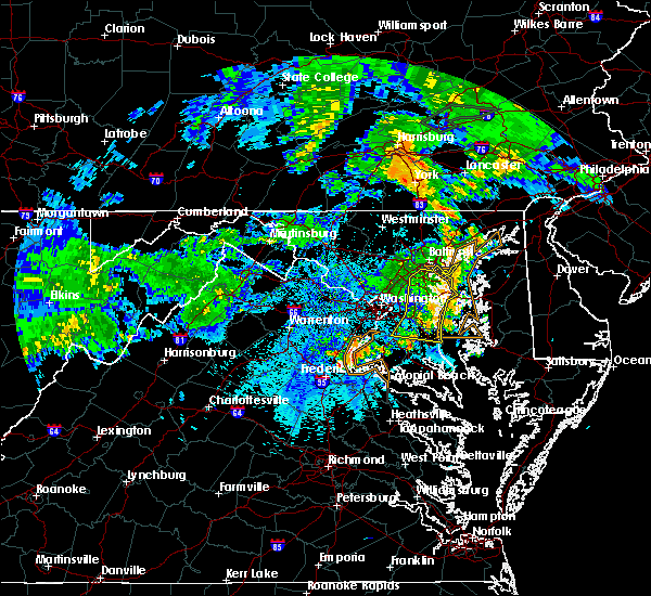 Radar Image for Severe Thunderstorms near Croom, MD at 6/4/2020 9:15 PM EDT
