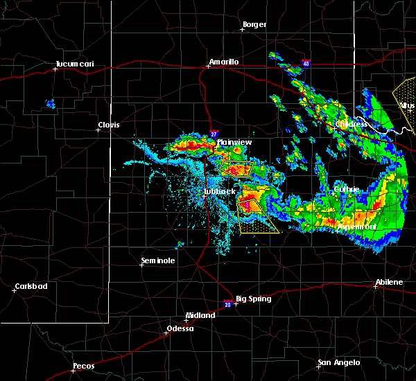 Radar Image for Severe Thunderstorms near Post, TX at 6/4/2020 8:20 PM CDT