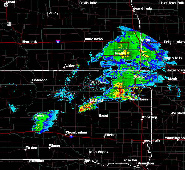 Radar Image for Severe Thunderstorms near Ortley, SD at 6/4/2020 8:21 PM CDT