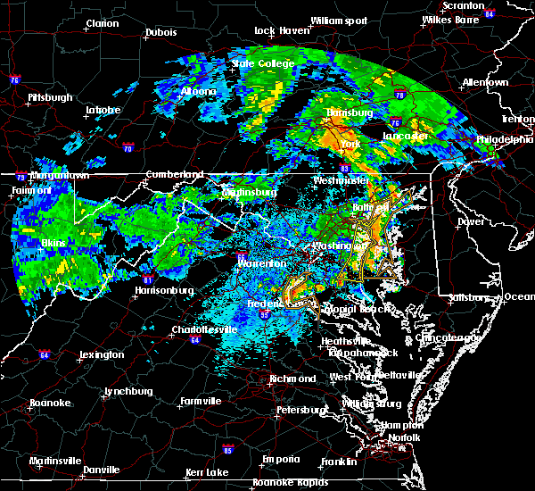 Radar Image for Severe Thunderstorms near Croom, MD at 6/4/2020 9:24 PM EDT