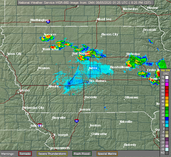 Radar Image for Severe Thunderstorms near Blairsburg, IA at 6/4/2020 8:28 PM CDT