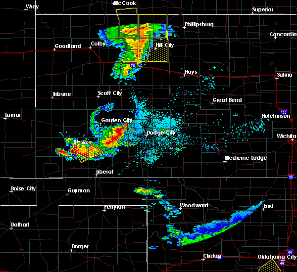 Radar Image for Severe Thunderstorms near Ulysses, KS at 6/4/2020 8:44 PM CDT