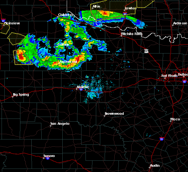 Radar Image for Severe Thunderstorms near Stamford, TX at 6/4/2020 8:45 PM CDT