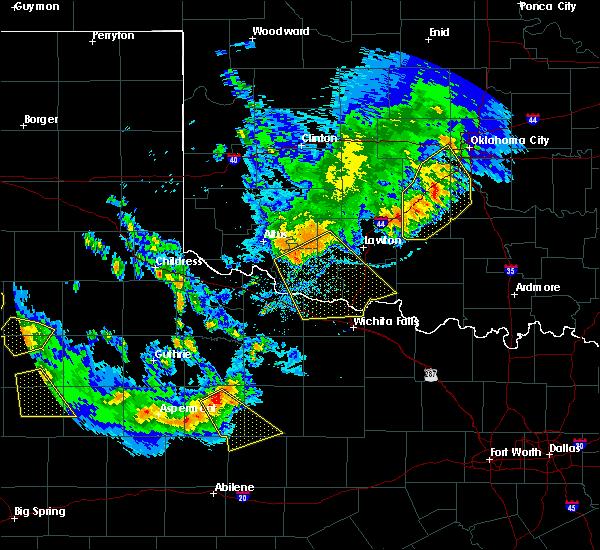 Radar Image for Severe Thunderstorms near Tipton, OK at 6/4/2020 8:47 PM CDT