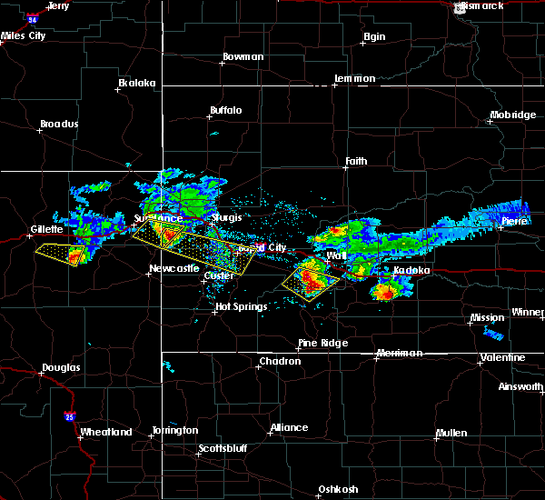 Radar Image for Severe Thunderstorms near Osage, WY at 6/4/2020 7:46 PM MDT