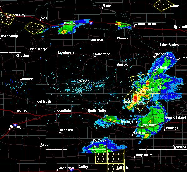 Radar Image for Severe Thunderstorms near Westerville, NE at 6/4/2020 8:51 PM CDT