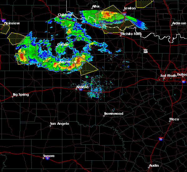Radar Image for Severe Thunderstorms near Stamford, TX at 6/4/2020 8:52 PM CDT
