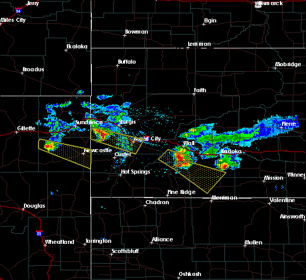 Radar Image for Severe Thunderstorms near Osage, WY at 6/4/2020 8:01 PM MDT