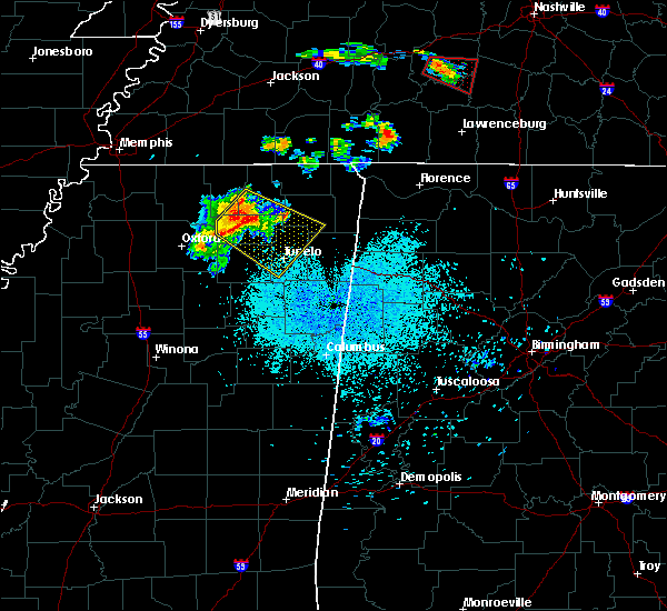 Radar Image for Severe Thunderstorms near Hickory Flat, MS at 6/4/2020 9:05 PM CDT