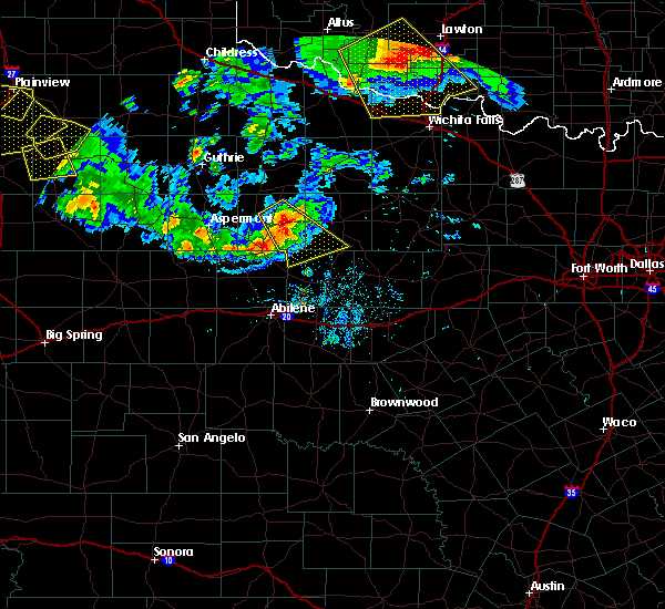 Radar Image for Severe Thunderstorms near Stamford, TX at 6/4/2020 9:05 PM CDT