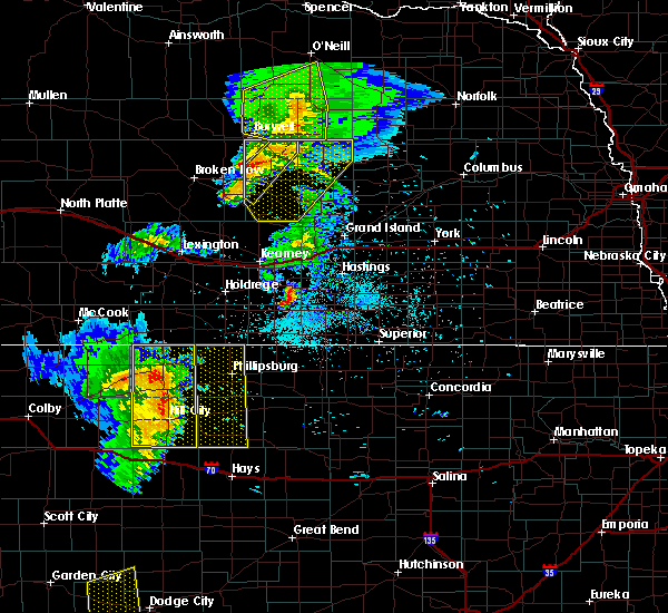 Radar Image for Severe Thunderstorms near Damar, KS at 6/4/2020 9:06 PM CDT