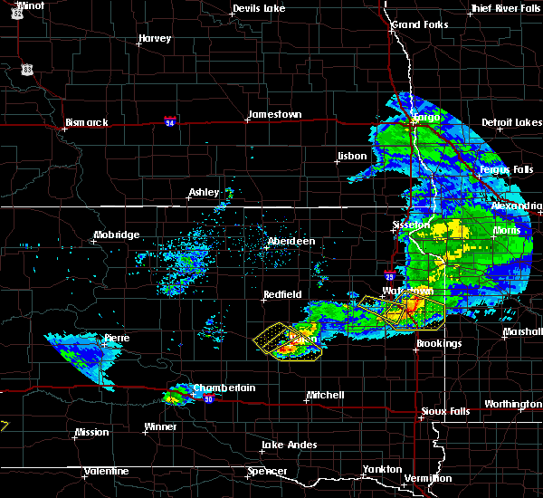 Radar Image for Severe Thunderstorms near Huron, SD at 6/4/2020 9:17 PM CDT