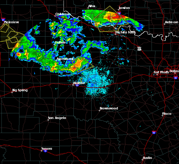 Radar Image for Severe Thunderstorms near Lueders, TX at 6/4/2020 9:21 PM CDT