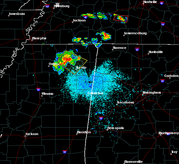 Radar Image for Severe Thunderstorms near Ecru, MS at 6/4/2020 9:22 PM CDT