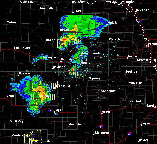 Radar Image for Severe Thunderstorms near Damar, KS at 6/4/2020 9:26 PM CDT