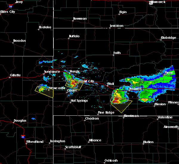 Radar Image for Severe Thunderstorms near Colonial Pine Hills, SD at 6/4/2020 8:28 PM MDT