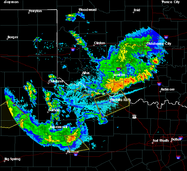 Radar Image for Severe Thunderstorms near Archer City, TX at 6/4/2020 9:33 PM CDT