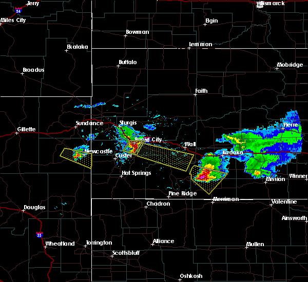 Radar Image for Severe Thunderstorms near Martin, SD at 6/4/2020 8:36 PM MDT