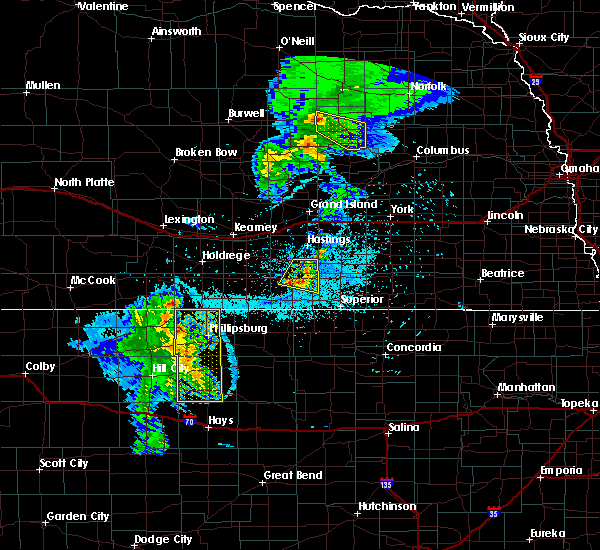 Radar Image for Severe Thunderstorms near Damar, KS at 6/4/2020 9:42 PM CDT