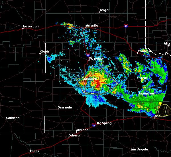 Radar Image for Severe Thunderstorms near Ropesville, TX at 6/4/2020 9:46 PM CDT