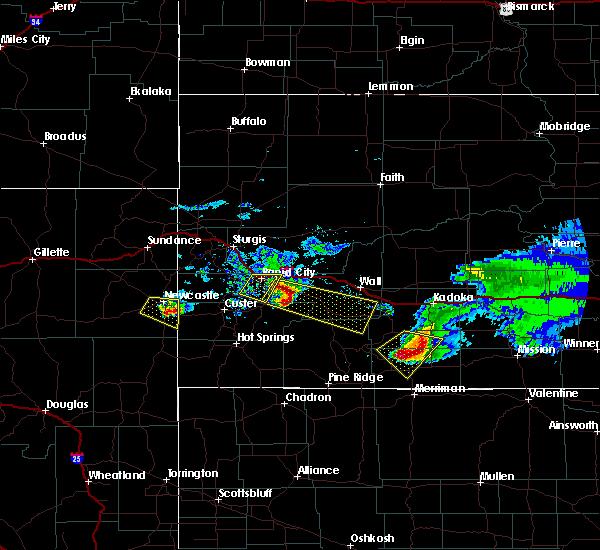 Radar Image for Severe Thunderstorms near Martin, SD at 6/4/2020 8:50 PM MDT