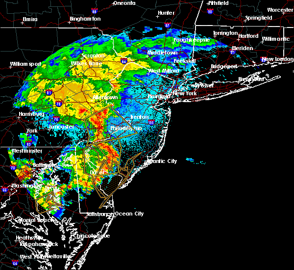 Radar Image for Severe Thunderstorms near Turnersville, NJ at 6/4/2020 10:57 PM EDT